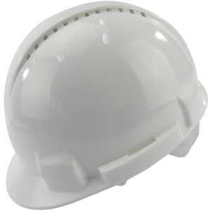 Vented Safety Helmet White