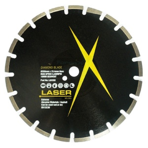 350mm x 25.4mm Asphalt Diamond Blade 10/15mm Segment