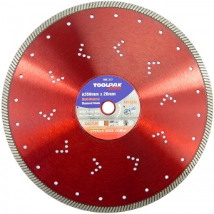 350mm x 20mm Multi-Material Diamond Blade 10mm Turbo Rim