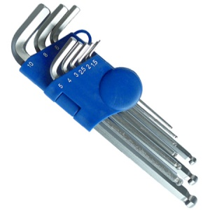 9-Piece Long Ball-End Hex Key Set