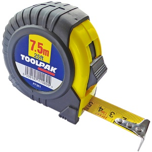 7.5m x 25mm Tape Measure