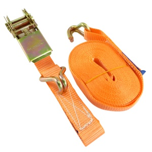 6M x 25mm Light Duty Ratchet Strap with J-Hooks