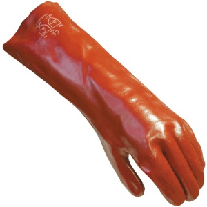 18'' / 450mm PVC Extra Long Sleeve Gloves Size L