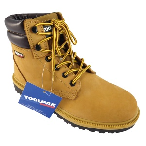 Honey Yellow Safety Boots - Size 8