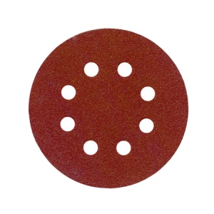 115mm Sanding Disc 80 Grit 8 Hole Pack of 10