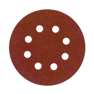 125mm Sanding Disc 80 Grit 8 Hole Pack of 10