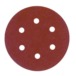 150mm Sanding Disc 40 Grit 6 Hole Pack of 10
