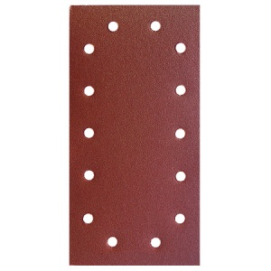 115mm x 230mm Sanding Sheet 60 Grit 14 Hole Pack of 10