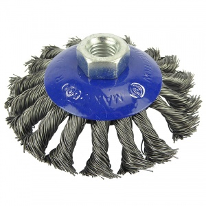 100mm Wire Twist Knot Bevel Brush M14