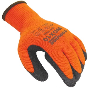 Thermal Grip Latex Glove Size L