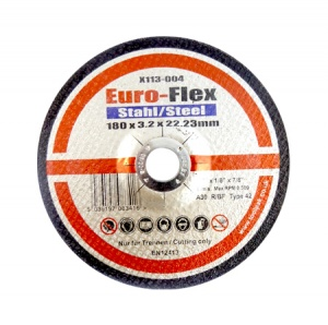 180mm x 3.2mm x 22.23mm DPC Metal Cutting Disc