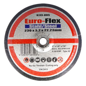 230mm x 3.2mm x 22.23mm DPC Metal Cutting Disc