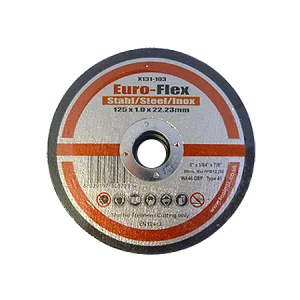 125mm x 1.0mm x 22.23mm Metal Thin Slitting Disc
