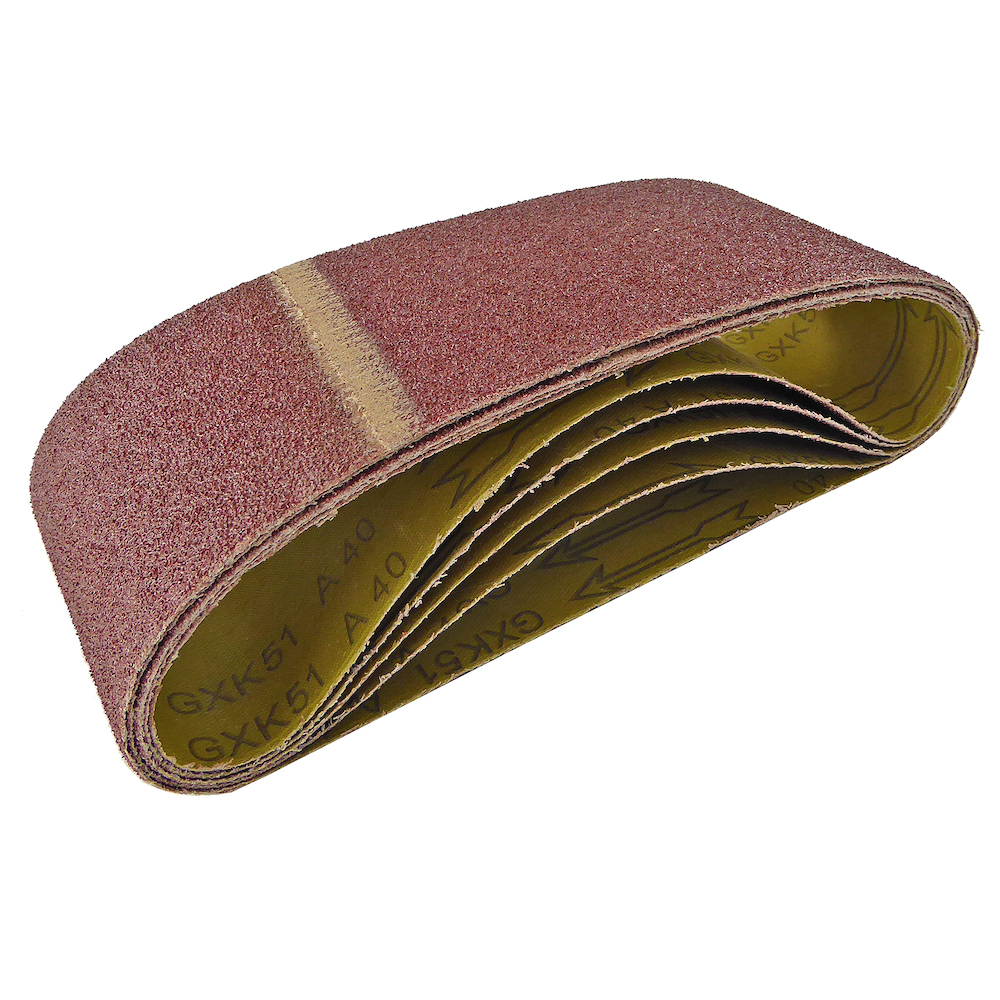 100mm x 610mm Sanding Belt 40 Grit Pack of 5