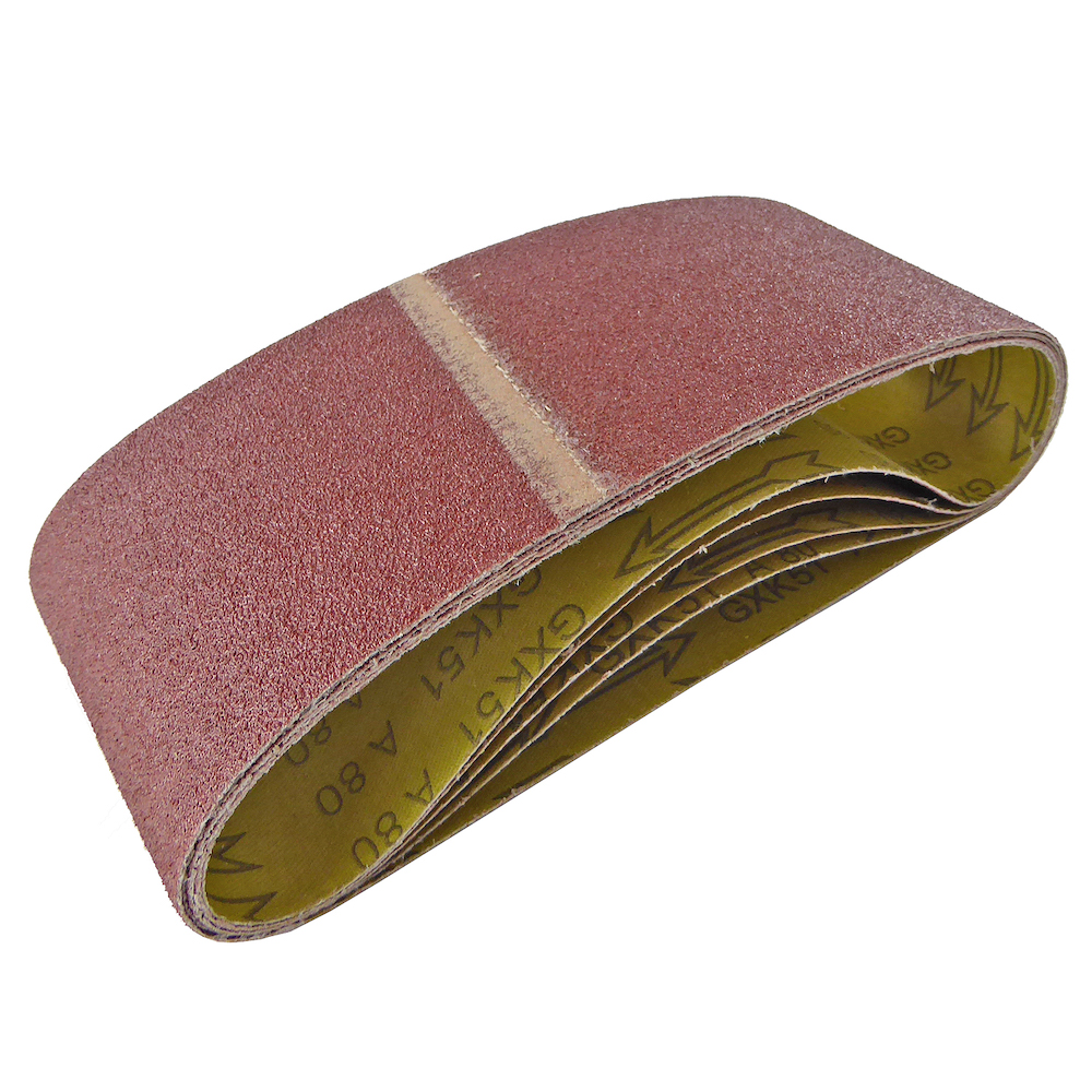 100mm x 610mm Sanding Belt 80 Grit Pack of 5