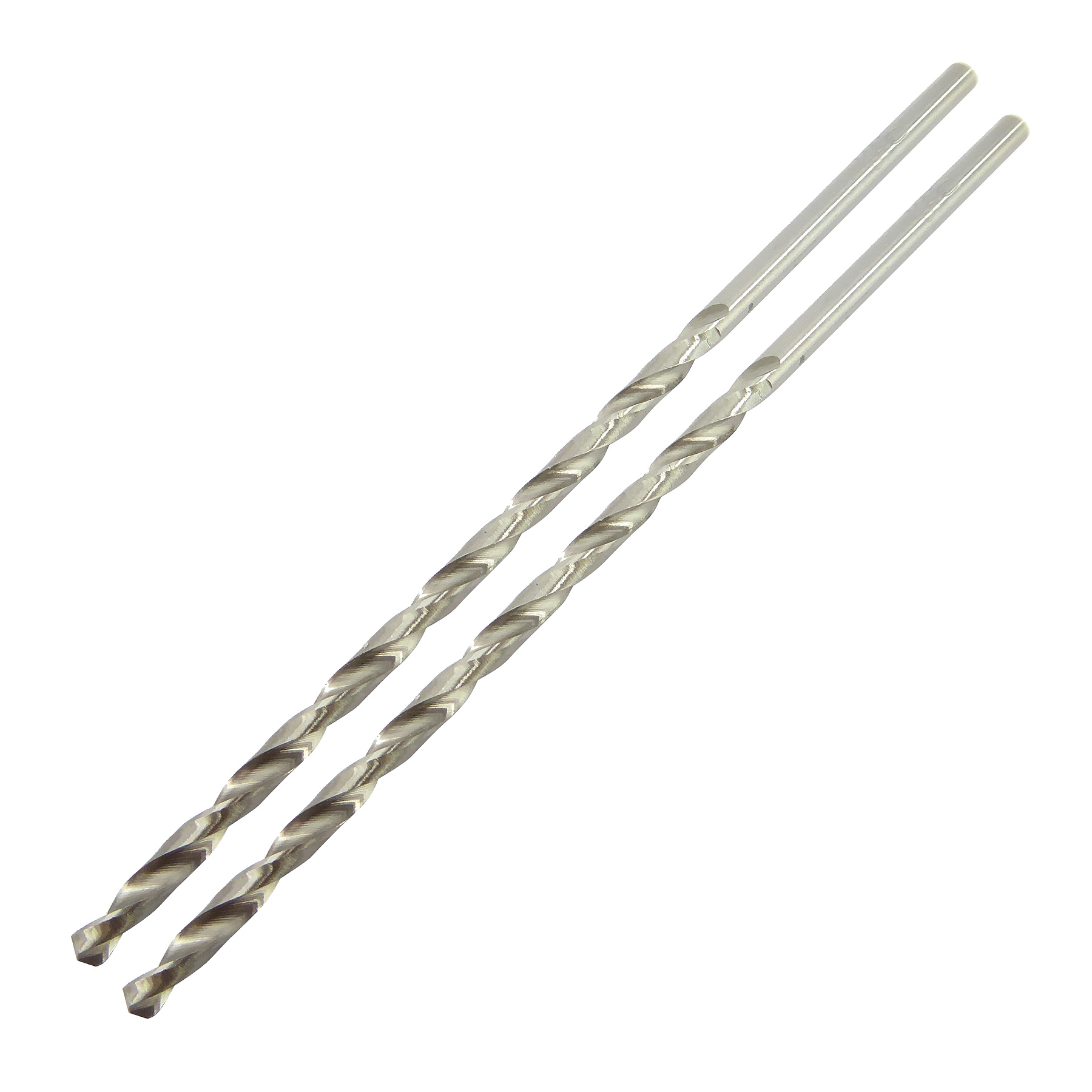 3.0mm x 100mm Long Series Ground Jobber Drill Pack of 2