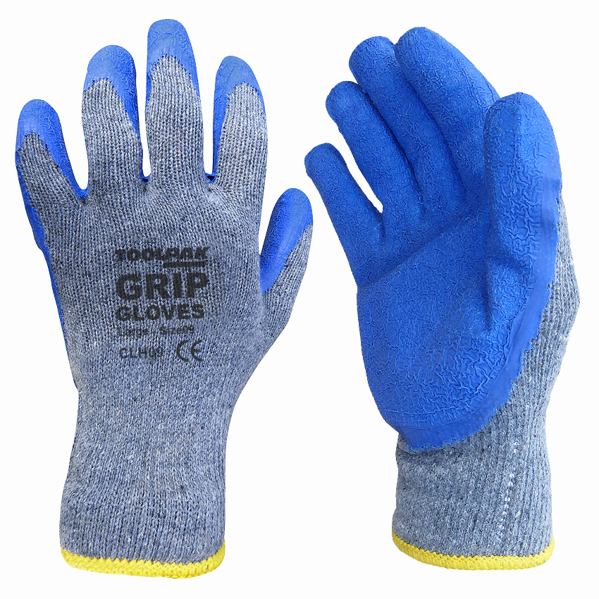 Crinkle Latex Grip Handling Glove Size L