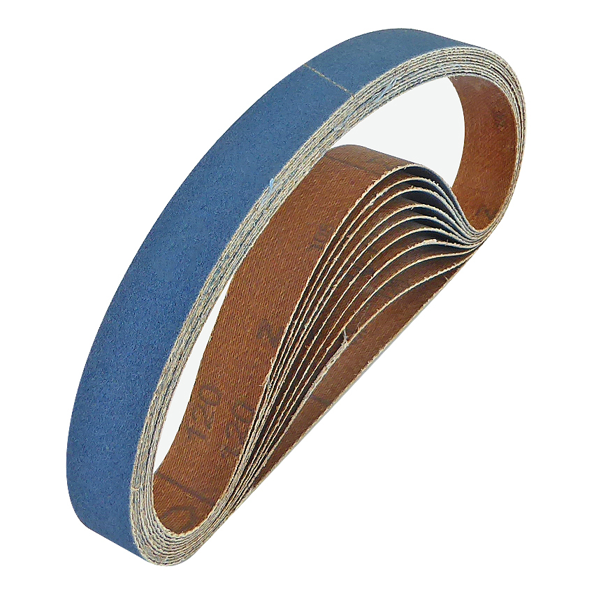 20mm x 520mm Zirconium Belt 120 Grit Pack of 10