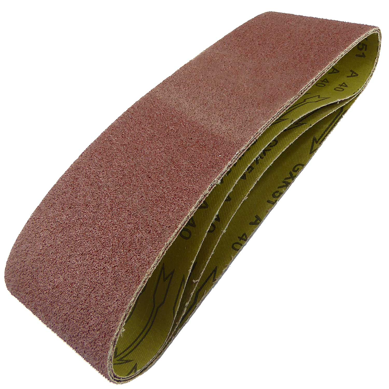 100mm x 610mm Sanding Belt 40 Grit Pack of 3