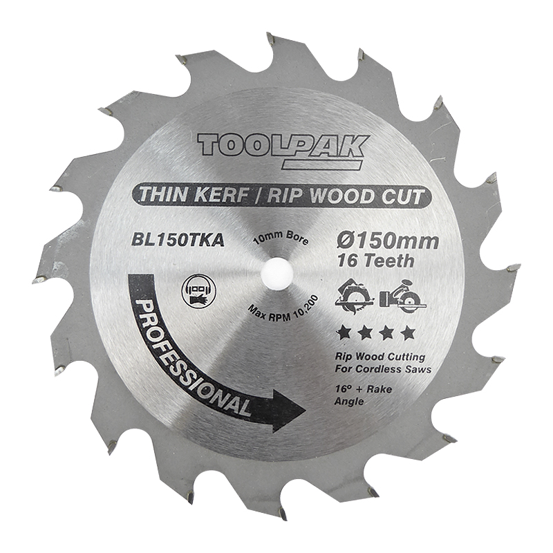 150mm x 10mm x 16T Thin Kerf Cordless TCT Saw Blade