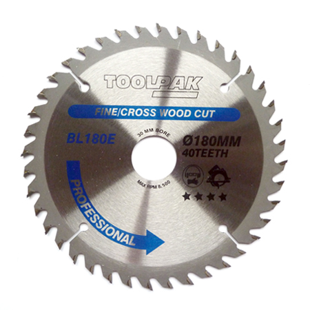 180mm x 30mm x 40T Professional TCT Saw Blade