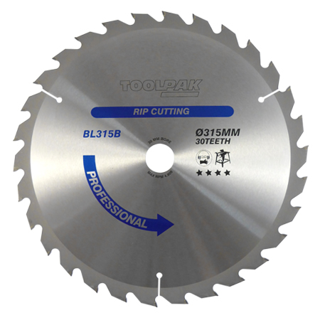 315mm x 30mm x 30T TCT Table Saw Blade
